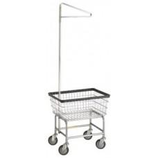 Coin Op Rack Cart Chrome Single Pole