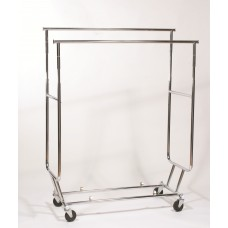 Double Rail Collapsible Rolling Rack