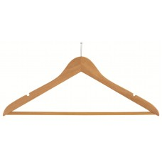 Anti-Theft Wooden Suit Hanger- Natural & Walnut