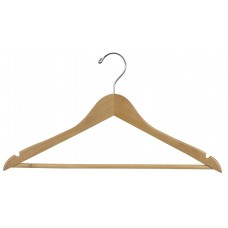Wooden Suit Hanger Flat - Natural & Walnut